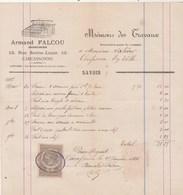 Facture Illustrée 25/1/1886 A FALCOU Serrurier CARCASSONNE Aude à Salières Confiseur EV - France