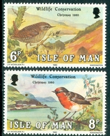 Isle Of Man 1980 Christmas & Wildlife Conservation Year , XF MNH, MiNr 178-9, SG 181-2; C.v. €0.90 Or £0.50 - Man (Ile De)