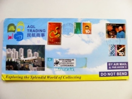 Cover Hong Kong China 2004 Animal Snake Xiaoping Plane Airplane Avion Agl Trading - Covers & Documents