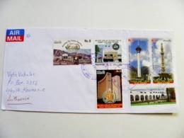 Cover Pakistan Tv Towers Locomotive Railway Train Iran Joint Issue - Pakistan