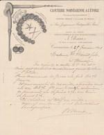 Facture Illustrée 25/2/1898 BARET Clouterie Norvégienne à L' Etoile  CARCASSONNE Aude - France