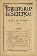 INITIATION & SCIENCE - Avril 1950 - Esotérisme