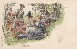 Ernst Platz - Picknick - Radfahrer Postkarte - Illustrateurs & Photographes