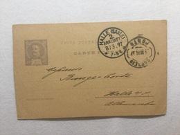 3776 Portugal Ganzsache Stationery Entier Postal P 28 Von Porto Nach Halle/Saale - Ganzsachen
