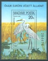 HUNGARY  - 1980 -  MNH/** - EGRETTA ALBA - Yv BLOC 150 - Lot 18904 - Blocks & Sheetlets