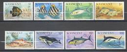 Saint-Vincent, Yvert 478/485, Réimpression, Reprint, 1977, MNH - St.Vincent (...-1979)