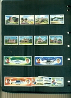 NEVIS NOCES CARLO-DIANA 6 VAL SURCHARGES OFFICIAL-HOTEL-NOEL 85 14 VAL NEUFS A PARTR DE 0.80 EUROS - St.Kitts-et-Nevis ( 1983-...)