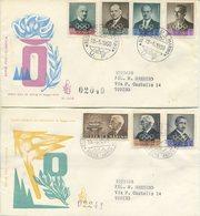 SAN MARINO - FDC VENETIA 1959 - PREOLIMPICA - SPORT - SERIE COMPLETA DI POSTA AEREA - VIAGGIATE IN RACCOMANDATA - FDC