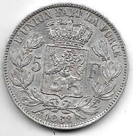 *Belguim 5 Francs 1868    Leopold II Vf+ - 1865-1909: Leopold II