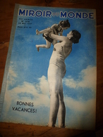 1937 LE MIROIR DU MONDE :Auberges De La Jeunesse;Naturisme à Villennes;Bateau SANTA MARIA à Paimpol;Tour Parachute;etc - Books, Magazines, Comics