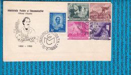 Romania Cover 1950 / MIHAI EMINESCU, POSTAL AND TELECOMMUNICATION ADMINISTRATION - Posta