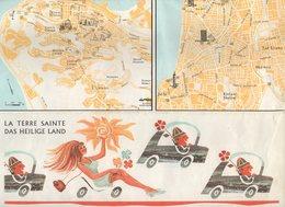 CARTE   ISRAEL  CEASE-FIRE LINES   JUNE 1967      NEGEV AND SINAÏ  LEBANON GALILEE SAMARIA JUDAH - Geographical Maps