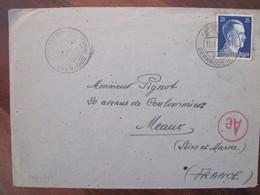 Allemagne France 1943 LAGER Censure Enveloppe Cover Guerre Deutsches Reich DR STO - Marcofilie (Brieven)