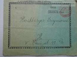 ZA165.12  Advertising - PHÖNIX -Turul-Magyar Országos Biztosító Intézet -Insurance Company - 1936  Printed Matter - Covers & Documents