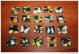 Butterflies 2007 Palau 20v - Schmetterlinge
