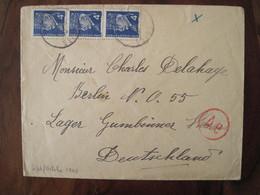 Allemagne France LAGER Censure Lettre Enveloppe Cover Guerre Deutsches Reich DR STO - Marcofilie (Brieven)