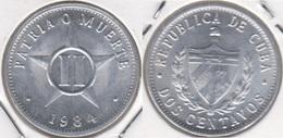 Cuba 2 Centavos 1984 KM#104.2 - Used - Cuba