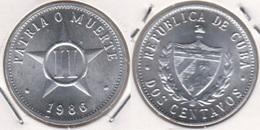 Cuba 2 Centavos 1986 KM#104.2 - Used - Cuba