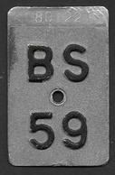 Velonummer Basel Stadt BS 59 - Plaques D'immatriculation