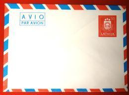 1991 LATVIA LETTLAND - STATIONARY ENVELOPE 50 K MINT  AVIO - Latvia