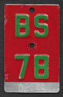 Velonummer Basel Stadt BS 78 - Plaques D'immatriculation