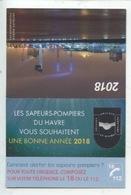 Calendrier Des Sapeurs Pompiers 2018 (15X10) : Le Havre Font De Mer Musée Sémaphore La Nuit - Photo Basille - - Calendriers