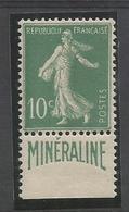 "1924-26 - N° 188A ""MINERALINE"" - ** (MNH) - TRES BEAU - Frankreich"