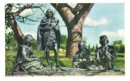 POSTAL   MONTEVIDEO  -URUGUAY  - MONUMENTO A LOS INDIOS CHARRUAS - Uruguay