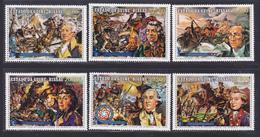 GUINEE-BISSAU N°   11 à 14, AERIENS 1 & 2 ** MNH Neufs Sans Charnière, TB (D8243) 200 Ans Indépendance Des USA -1976 - Guinea-Bissau