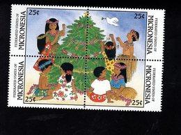 703454323 MICRONESIA POSTFRIS MINT NEVER HINGED POSTFRISCH EINWANDFREI  SCOTT 70A CHRISTMAS - Micronésie