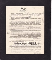 TURNHOUT Delphine Van RAVESTYN épouse Aimé MISONNE 1855-1946 - Overlijden