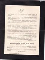 GILLY CHARLEROI Marie MISONNE 1882-1959 - Overlijden