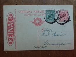 REGNO - Cartolina Viaggiata Con Tassello Pubblicitario Reinach + Spedizione Prioritaria - Storia Postale