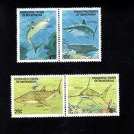 703454971 MICRONESIA POSTFRIS MINT NEVER HINGED POSTFRISCH EINWANDFREI  SCOTT 78A 80A SHARKS - Micronésie