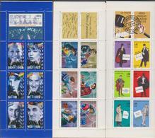 FRANCE 3 Bandes Carnets Neufs Xx Non Pliées N°YT  BC3031 3121 3193 - Années 1996 à1998 - Personnages