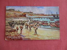 Ghana - Gold Coast  Tuck Series Loading Cocoa Into Surf Boats  Ref 3134 - Ghana - Gold Coast