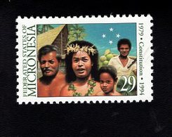 703457893 MICRONESIA POSTFRIS MINT NEVER HINGED POSTFRISCH EINWANDFREI  SCOTT 194 CONSTITUTION 15TH ANNIV - Micronésie