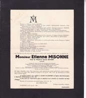 GILLY CHARLEROI Etienne MISONNE Veuf BIVORT Avocat  Charbonnages Jumet 1864-1943 - Overlijden