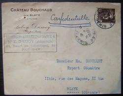 Château Bouchaud Par Blaye (Gironde) Julien Damoy Propriétaire - Marcophilie (Lettres)