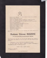 GILLY CHARLEROI Jeanne BIVORT épouse Etienne MISONNE 42 Ans 1918 - Overlijden