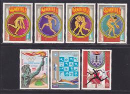 GUINEE EQUATORIALE N°   69, AERIENS 53 ** MNH Neufs Sans Charnière, 7 Val. TB (D8244) Jeux Olympiques Montréal - 1975 - Guinée Equatoriale