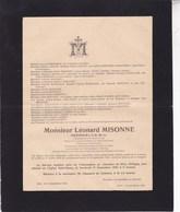 GILLY CHARLEROI Léonard MISONNE Ingénieur 1870-1943 Famille LAMBIN - Overlijden