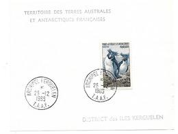 TAAF Série Timbres N°2-3- 4- 6- 7 Oblitérés - Collections, Lots & Séries