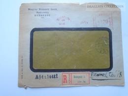 ZA165.15  Franking Machine / Meter Mark Cover -Hungary -Budapest Magyar Nemzeti Bank 1947 - Hungary