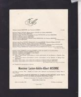 GILLY Lucien-Adelin MISONNE 1920-1947 Famille LAMBIN - Overlijden