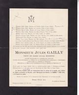 MONTIGNIES-sur-SAMBRE Jules GAILLY Veuf Lucia MISONNE Ancien Bâtonnier Charleroi 1853-1913 - Overlijden