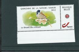 Duostamp  Neuf (**)   Avec N° 4183 (auto-adhésif)  Quizaine De La Nature 2012  Le Bruant Des Roseaux - 1985-.. Oiseaux (Buzin)