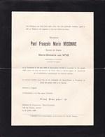 TURNHOUT LOUVAIN Paul MISONNE époux Van VYVE Fonctionnaire De Colonie 1920-1956 En 2 Volets Complets - Overlijden