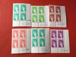 6 Coins Datés Sabine De Gandon Neufs ** Certains Avec Gomme Tropicale   Lot 106e - 1970-1979