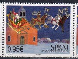 ST. PIERRE ET MIQUELON, SPM, 2018, MNH,CHRISTMAS, REINDEER, SANTA, 1v - Christmas